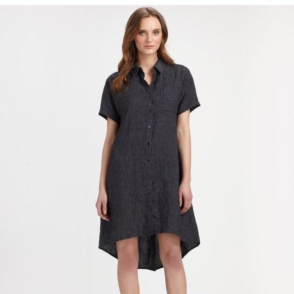 f61b170db6 Eileen Fisher Dresses   Skirts - Gorgeous Eileen Fisher linen high low dress ✨